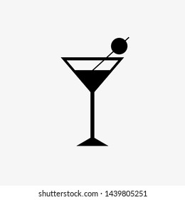 coctail icon.Symbol for your web site design