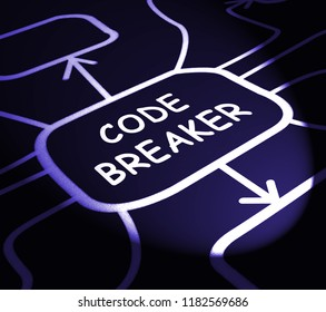 Code Breaker Decoded Data Hack 3d Illustration Shows Encryption Breaking And Cyber Source Decoded