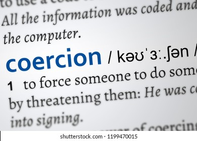 coercion dictionary word. Vocabulary page