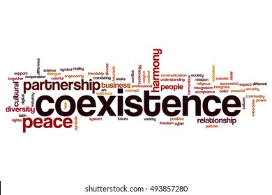 Coexistence word cloud concept