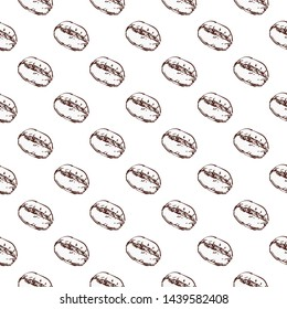 Coffee bean seamless, Coffee bean pattern including seamless on white background.
