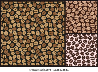 coffee beans and grains pattern