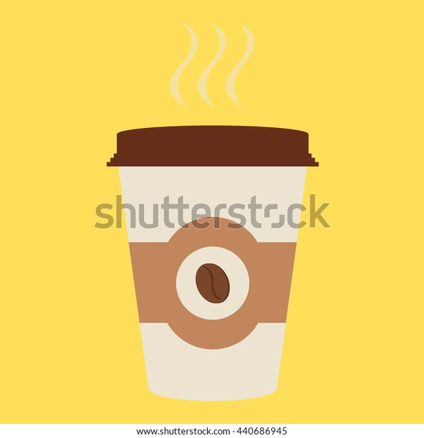 Coffee cup  icon with beans logo