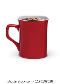 Coffee cup isolated. Realistic 3d illustration