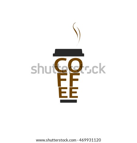 coffee cup logo isolated on white stock illustration 469931120