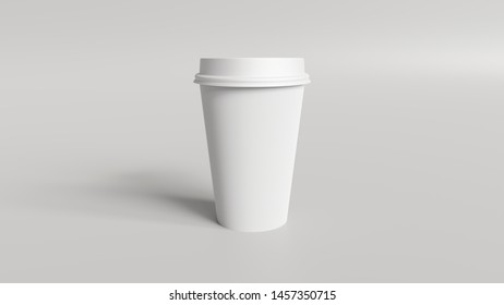 Coffee cup mockup 3d render - Product mockup of a coffee cup.