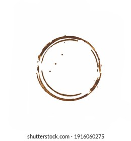 Coffee cup and tea cup ring stain set.