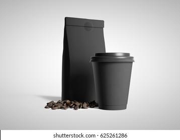 Coffee cup.3D rendering