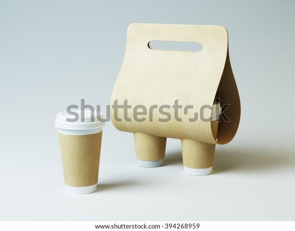 c5cebf6df15 Coffee Holder Mock Craft Cups Simply Stock Illustration 394268959