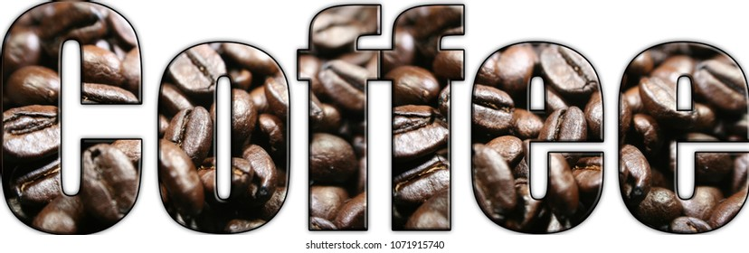 Coffee Logo With Coffee Beans In Lettering