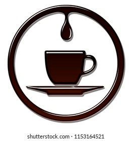 Coffee time with drip, great for your store logo.