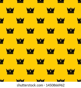 Cog crown pattern seamless repeat geometric yellow for any design
