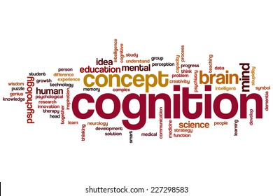 Cognition word cloud concept