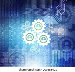 cogwheel technology background
