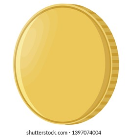 coin gold metal success round value rich single illustration pay