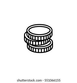 coin icon. sign design