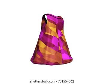 coktail dress 3D rendering