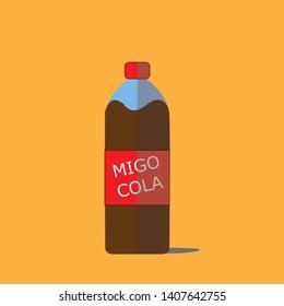 Cola Bottle With Yellow brackroud (Migo Cola)