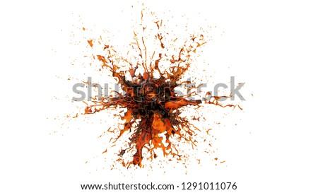 Cola splash Isolated on