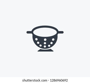 Colander icon isolated on clean background. Colander icon concept drawing icon in modern style.  illustration for your web mobile logo app UI design.