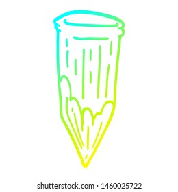 cold gradient line drawing of a cartoon vampire stake