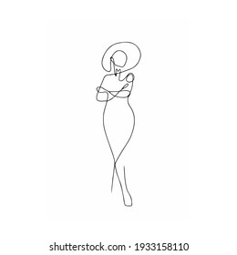 The cold shoulder line art motif