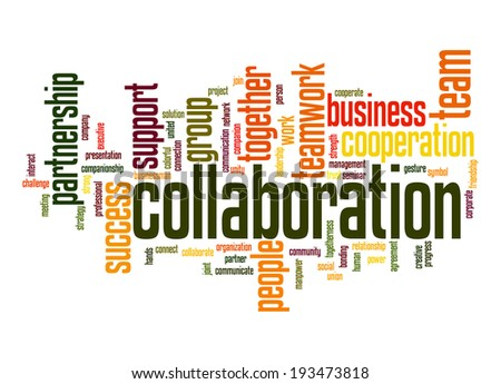 Collaboration Word Cloud Stockillustration 193473818 Shutterstock