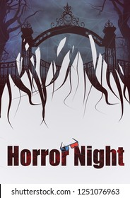 Collage for a Horror night walpaper