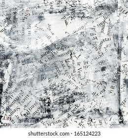 collage made of newspaper and  magazine letters. Grunge background.