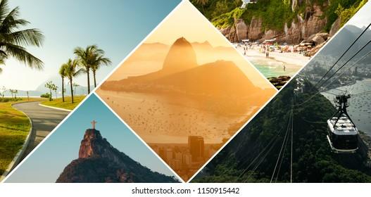 Collage of Rio de Janeiro travel
