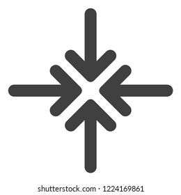 Collapse arrows icon on a white background. Isolated collapse arrows symbol with flat style.