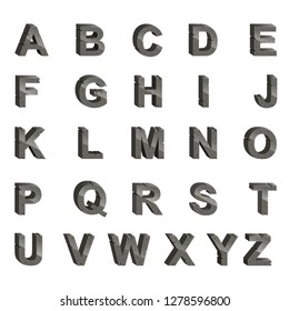 the collection of the capital alphabet in the grey color
