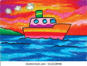 Oil Pastel Drawing Images, Stock Photos & Vectors | Shutterstock