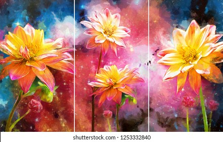 Oil Painting Flowers Images Stock Photos Vectors Shutterstock