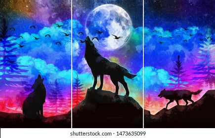 Galaxy Wolf Images Stock Photos Vectors Shutterstock