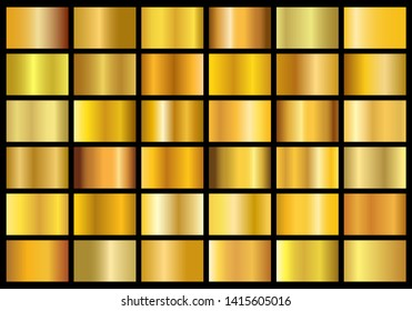 collection of golden metal gradients