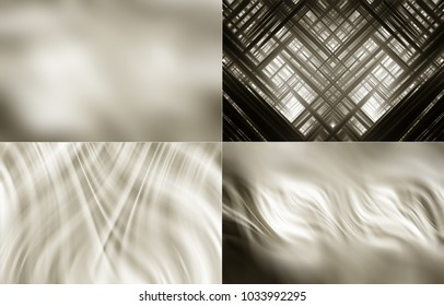 Collection of grey Illustration. Four abstract background.