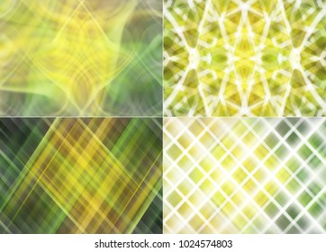 Collection of images yellow. Beautiful four illustration.