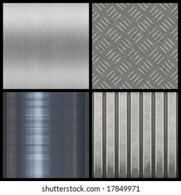 A collection of modern metal textures - most tile seamlessly as a pattern in any direction. Larger versions of each are also available in my portfolio.