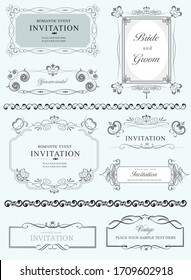 Collection of ornate B&W frames