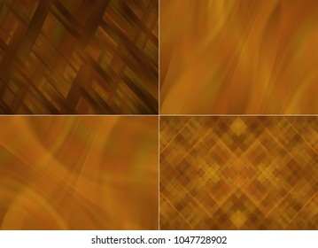 Collection of red Illustration. Four abstract background.