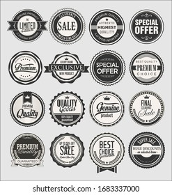 Collection of vintage labels for sale and businesses