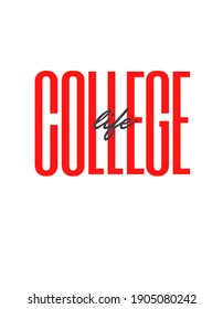College Life Text and Graphic