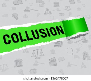 Collusion Report Paper Showing Russian Conspiracy Or Criminal Collaboration 3d Illustration. Secret Government Plotting With Foreign Players