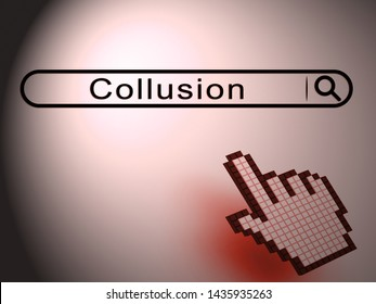 Collusion Report Search Showing Russian Conspiracy Or Criminal Collaboration 3d Illustration. Secret Government Plotting With Foreign Players
