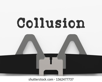 Collusion With Russia Plot Type Meaning Foreign Illegal Collaboration 3d Illustration. Colluding With Russian Entities To Deceive Government