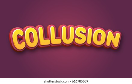 Collusion Text for Title or Headline. In 3D Fancy Fun and Futuristic style