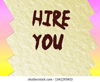 coloful background with text hire you