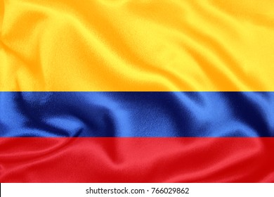 colombia Fabric Flag