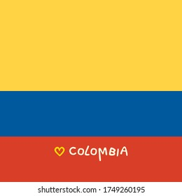 Colombia folded flag symbol - an abstract square art jpeg illustration
